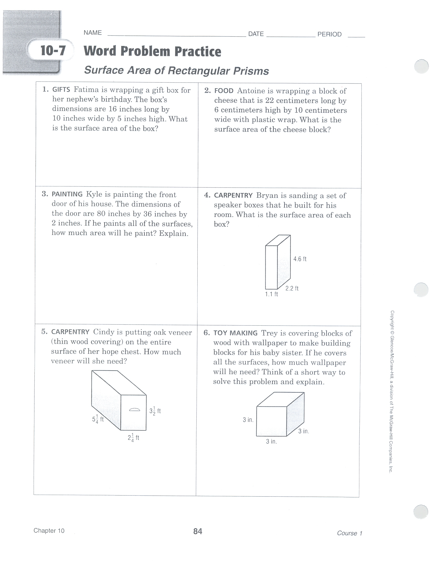 worksheet Surface Area Word Problems unit 10 6th grade math uploads388238822625surface area word problems0001 jpg